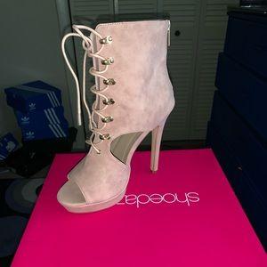 Pastel Pink Shoe Dazzle Heels